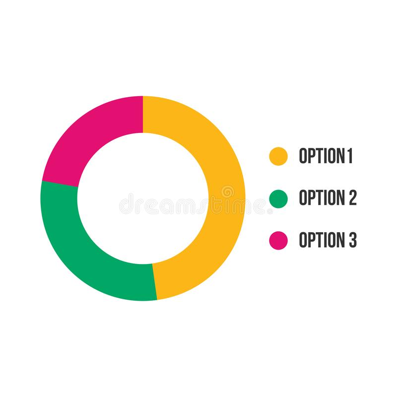 Colorful Business Pie Chart for Your Documents, Reports web or Presentations. Vector illustration isolated on white background. royalty free illustration