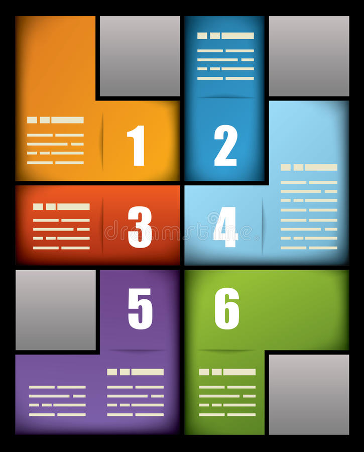 Colorful print presentation template vector illustration