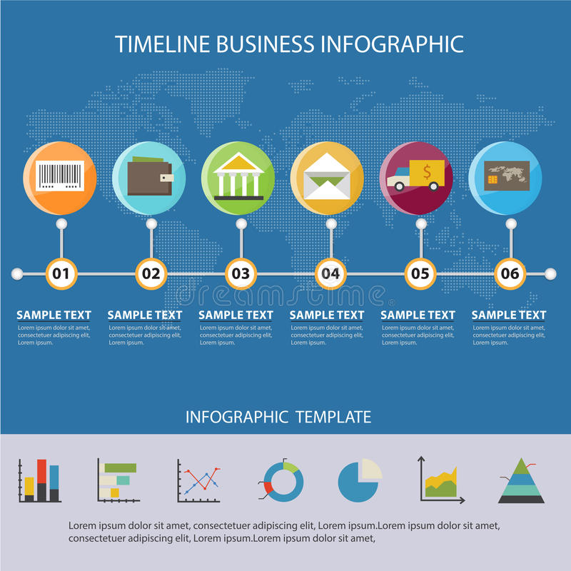 Colorful Business Timeline Infographic And Presentations Advertising