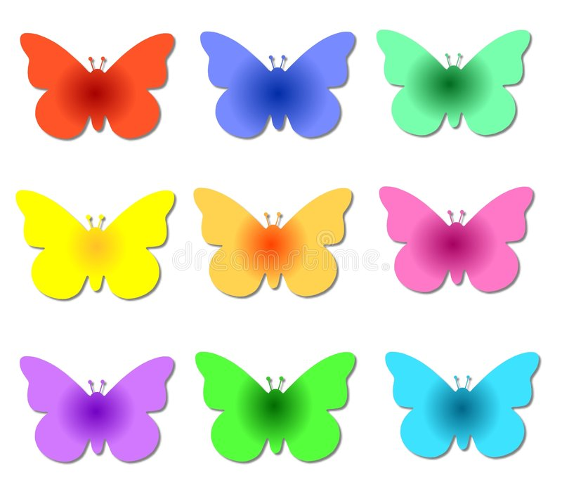 Colorful Butterflies stock illustration. Illustration of nature ...