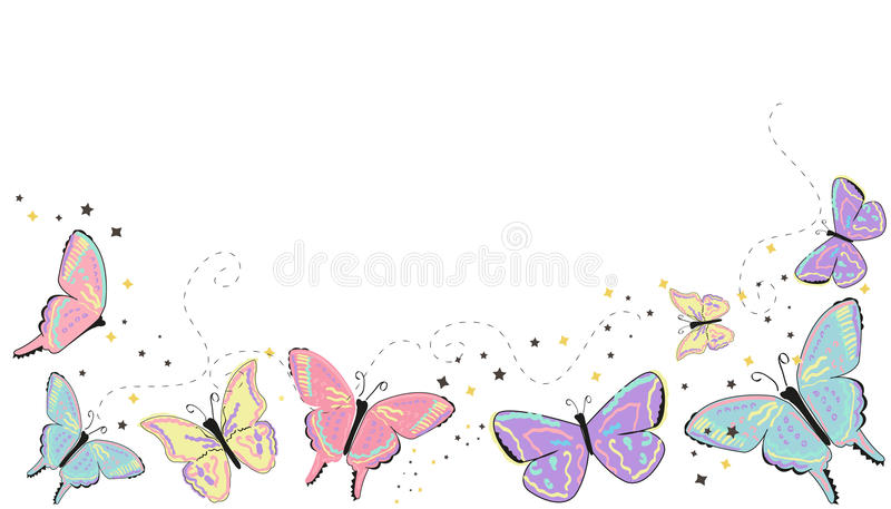 Colorful butterflies abstract spring. Background vector illustration