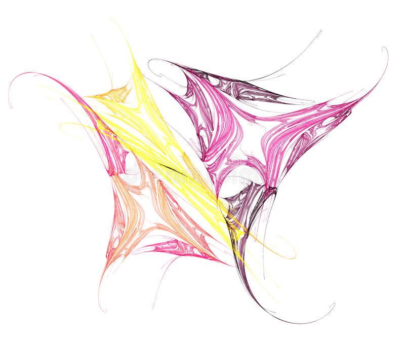 Colorful Butterfly Artwork stock illustration