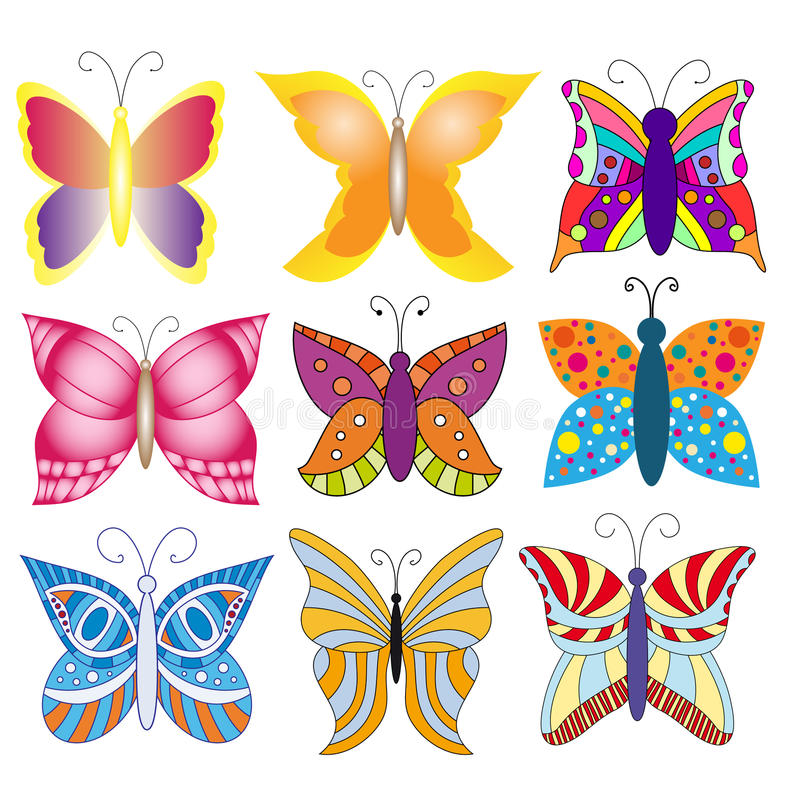 Download Colorful Butterfly Collection Stock Illustration - Image: 14779015