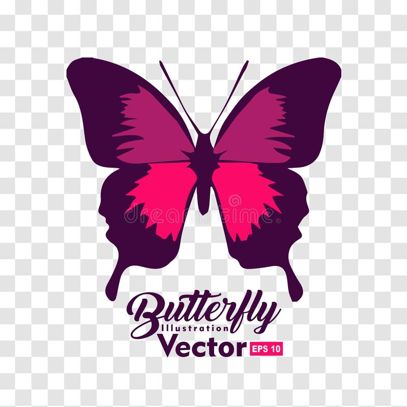 Colorful Butterfly illustration vector collection. For you symbol, icon, brand and other users royalty free illustration