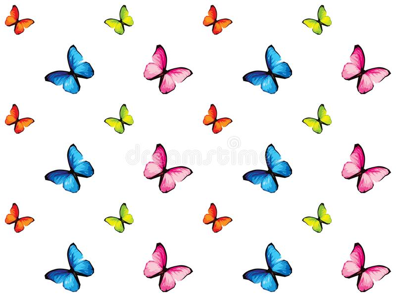 Colorful butterfly isolated on white background vector illustration