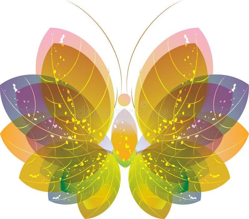 Download Colorful Butterfly Over White, Eps10 Stock Vector - Image: 19650942