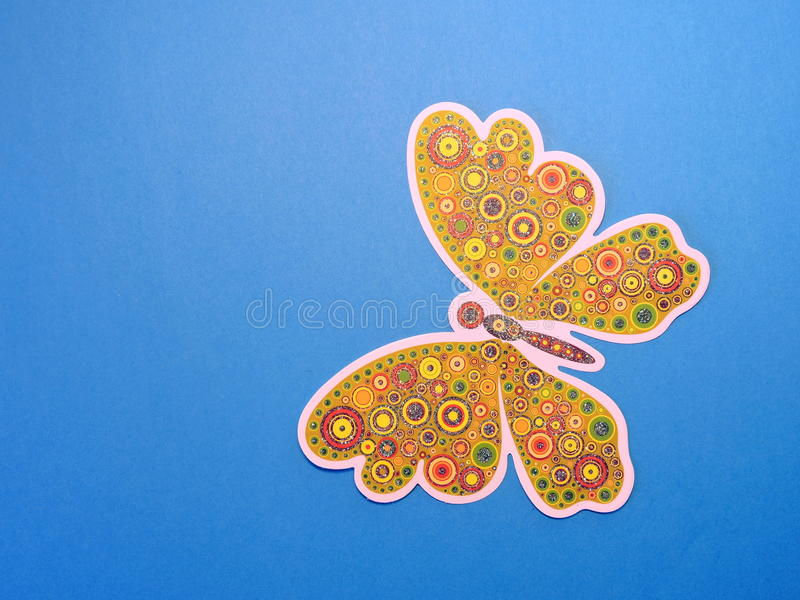 Colorful butterfly . Paper cutting. royalty free stock photography