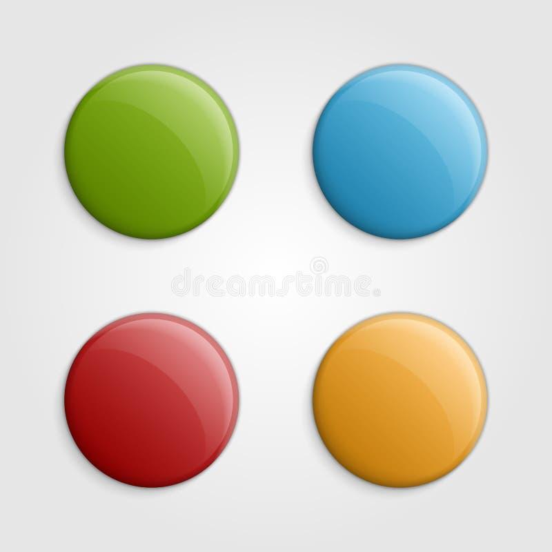 Colorful buttons design elements. Vector illustration. vector illustration