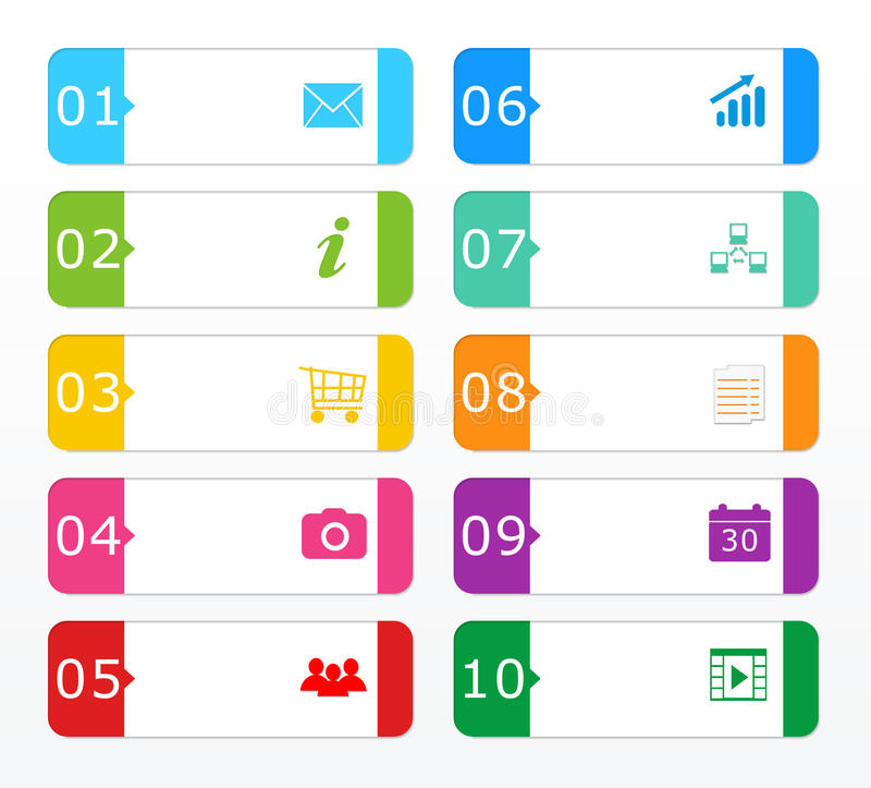 Download Colorful buttons for Web stock illustration. Illustration of networking - 39506729