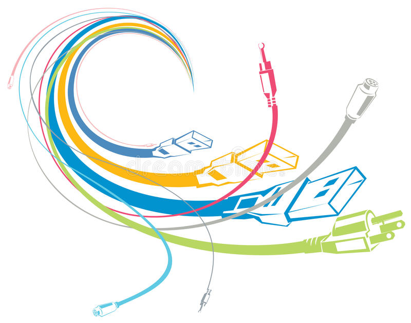 Colorful cables royalty free illustration