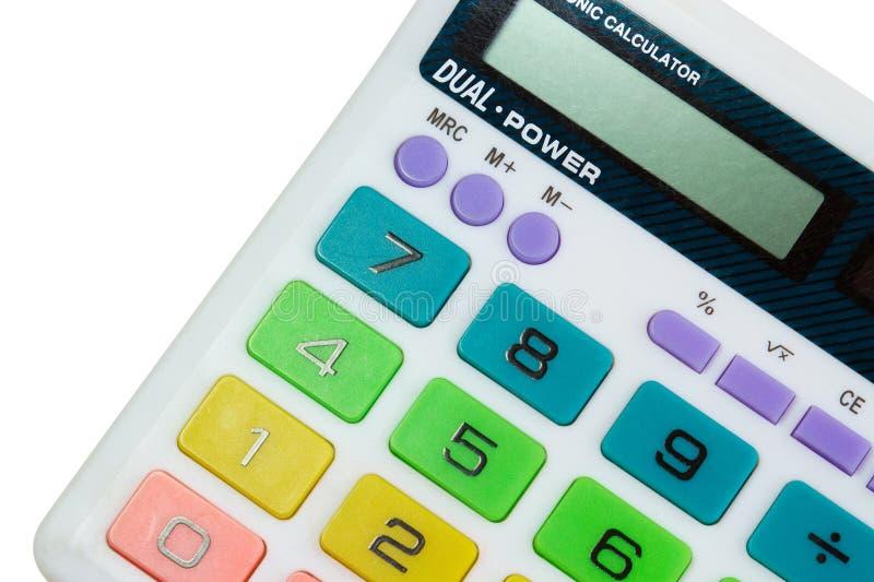 Colorful calculator. A colorful old children's school calculator stock photo