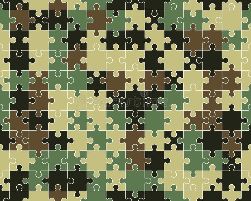 Colorful camouflage puzzle royalty free stock photo