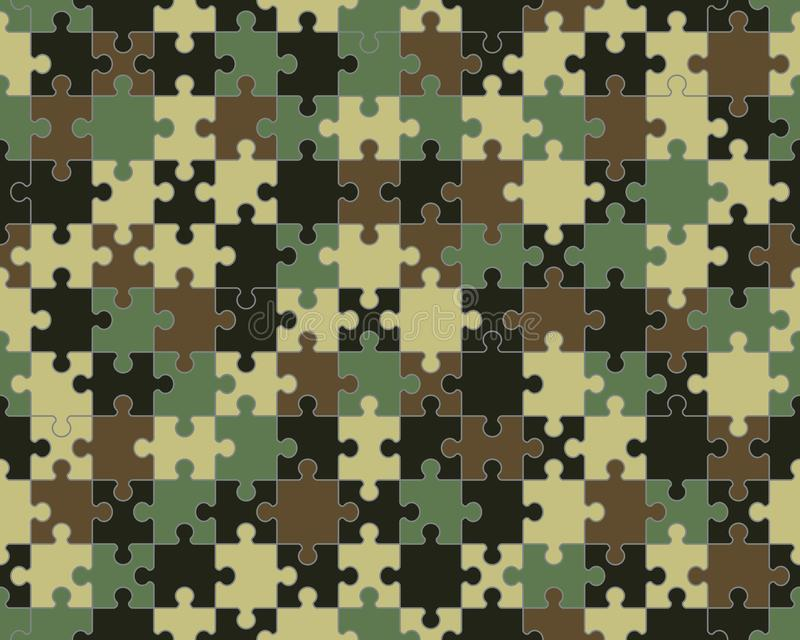 Colorful camouflage puzzle royalty free stock photos