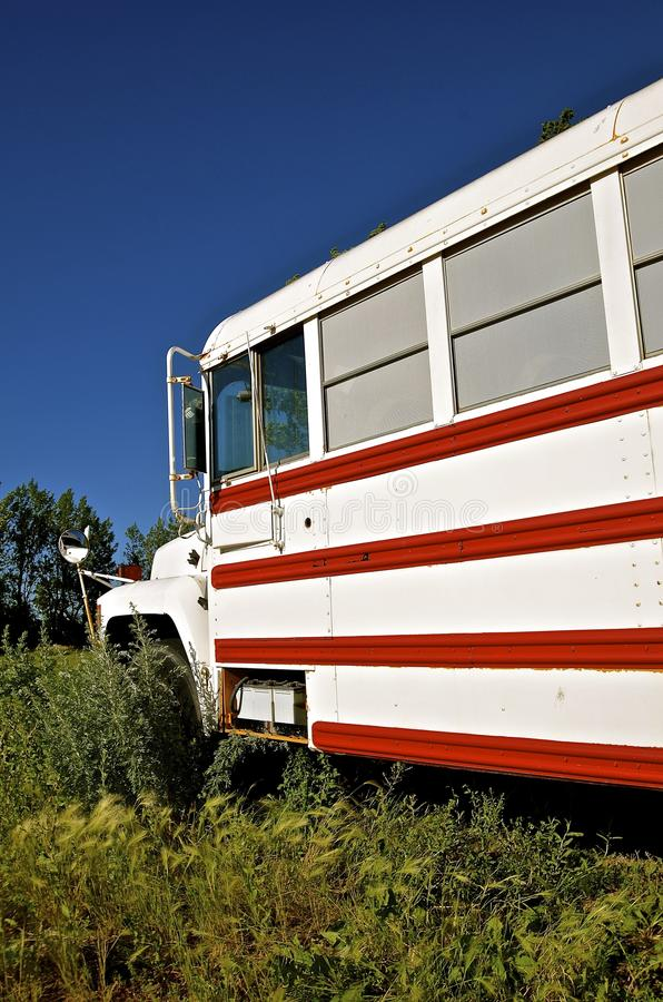 Colorful camper school bus stock photography