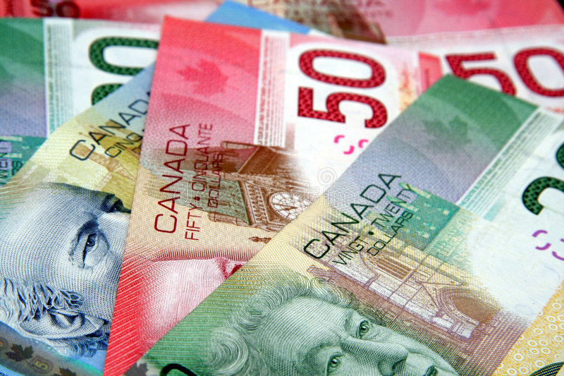 Colorful Canadian Currency Royalty Free Stock Photo