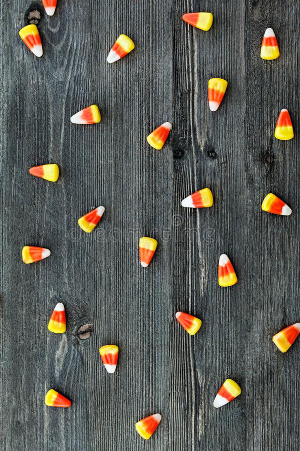 Colorful Candy Corn For Halloween stock photography
