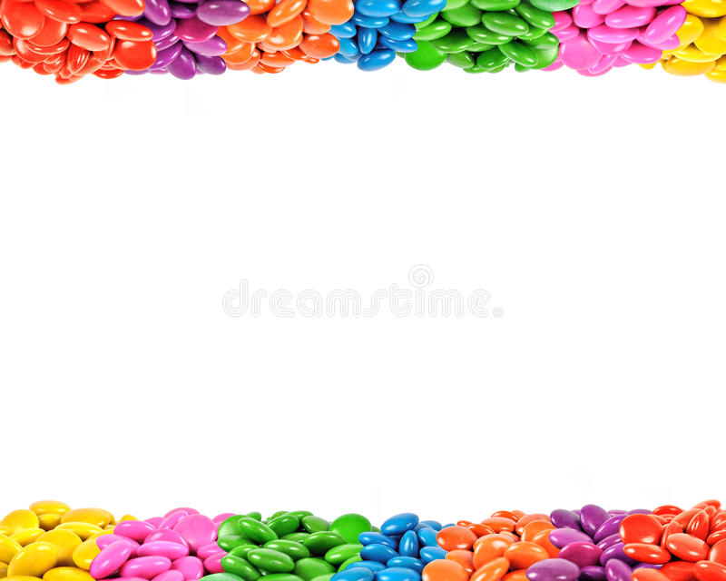 Colorful candy frame. Close-up of Colorful candy frame stock photo