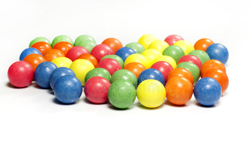 Colorful candy gum balls royalty free stock photography