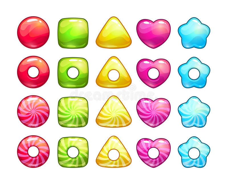 Colorful candy set. royalty free illustration