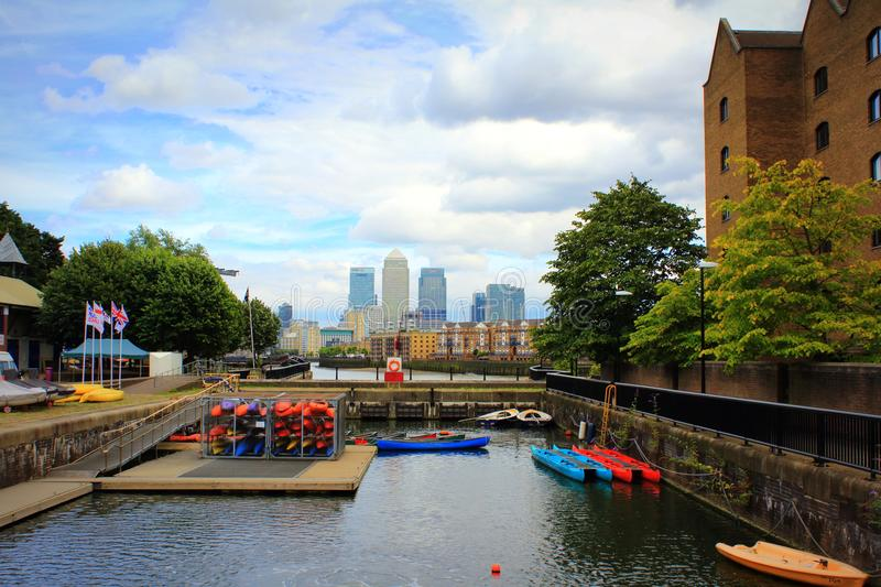 Shadwell Basin Outdoor Activity Centre London England royalty free stock image