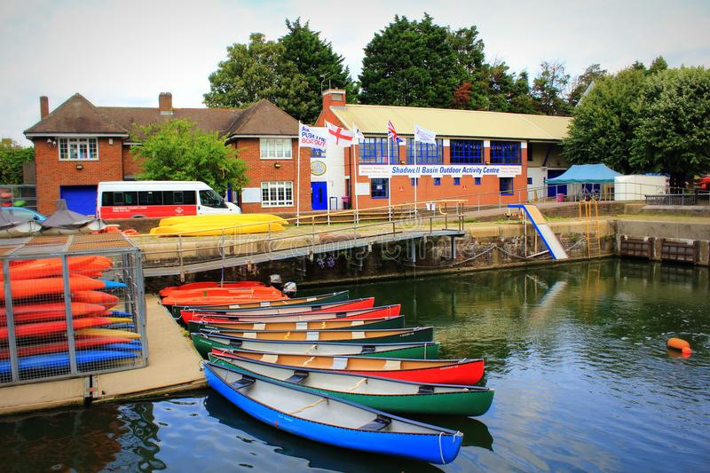 Shadwell Basin Outdoor Activity Centre London Great Britain royalty free stock image