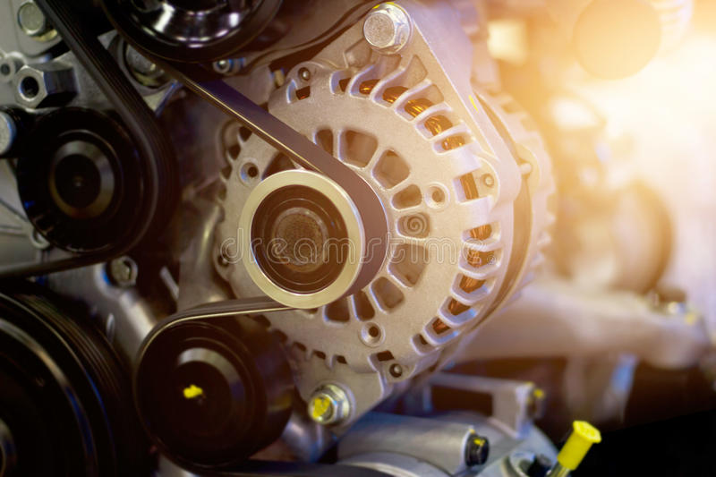 Colorful car engine part royalty free stock photos