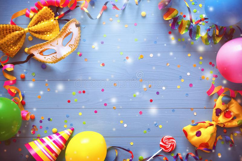 Colorful carnival or birthday background stock images