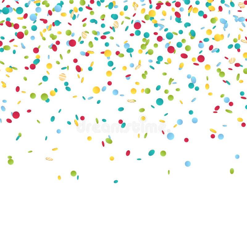 Colorful carnival confetti background. stock illustration