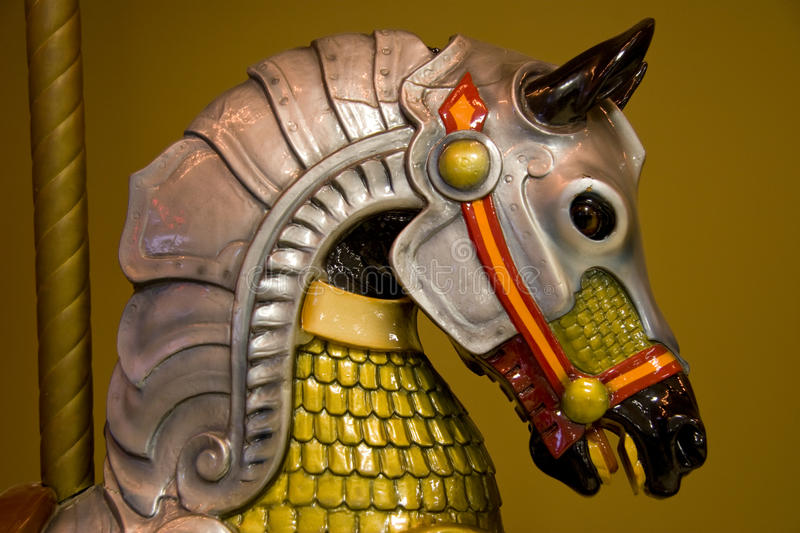 Colorful Caroussel Horse Head Stock Photography