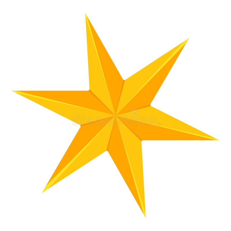 Free Colorful Cartoon 6 Point Golden Star Royalty Free Stock Photography - 126517957