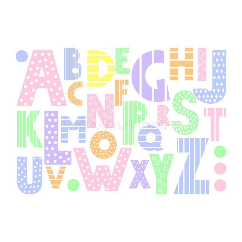 Colorful Cartoon Alphabet On White Background. Stock ...