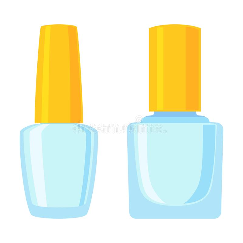 Colorful cartoon empty cosmetic bottle set stock illustration
