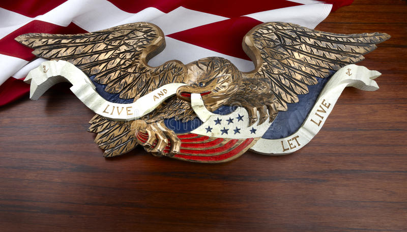 Download Colorful Carved American Eagle Stock Photo - Image: 14857466
