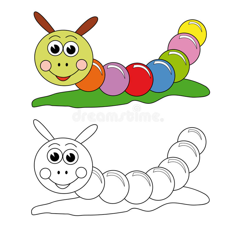 Colorful caterpillar vector illustration