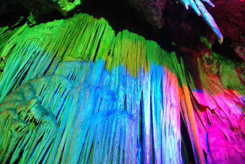 Colorful cave royalty free stock images