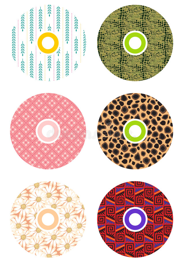 Colorful cds stock illustration