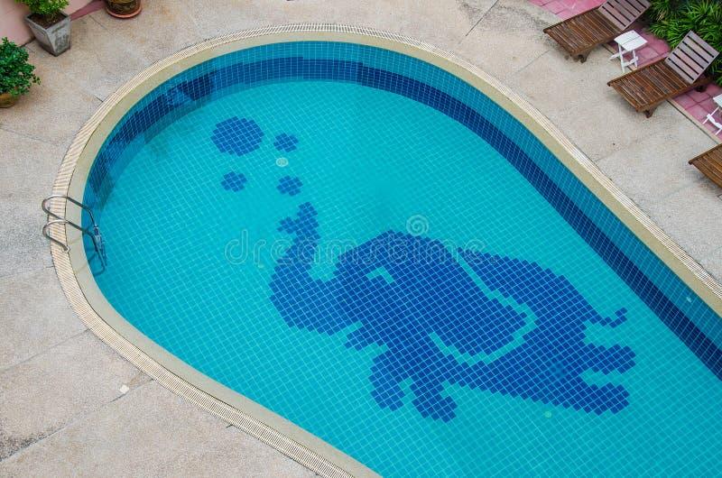 Colorful of ceramic elephant pool royalty free stock image