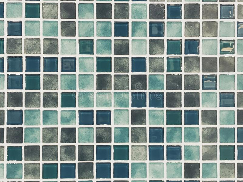 Colorful Ceramic Mosaic Tiles. Wall Background royalty free stock image