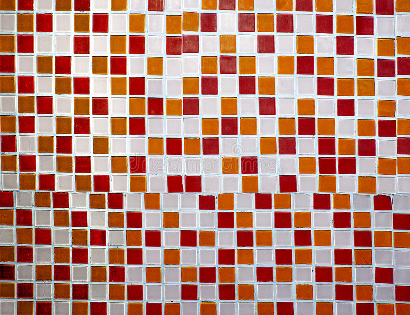 Colorful ceramic tiles wall stock photo