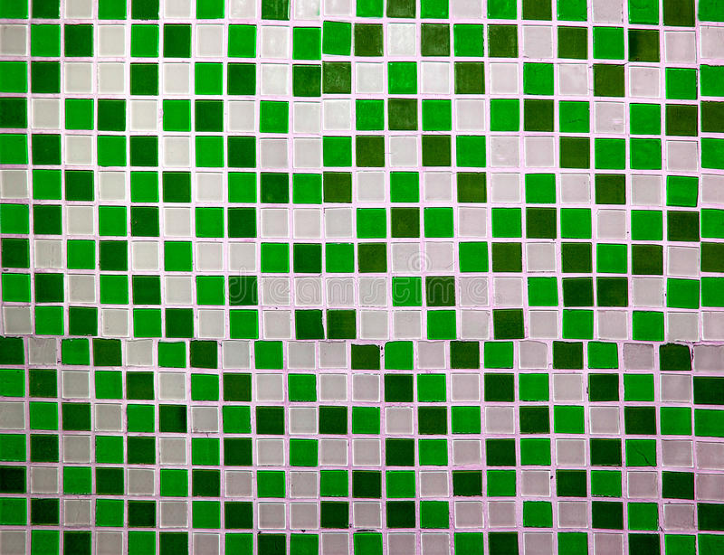Colorful ceramic tiles wall stock image
