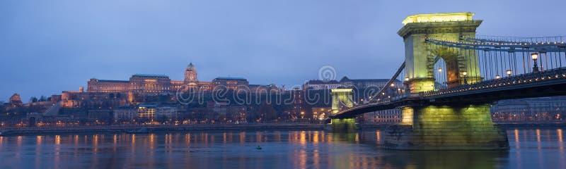 Download Colorful Chain Bridge. stock image. Image of bridge, danube - 28003287