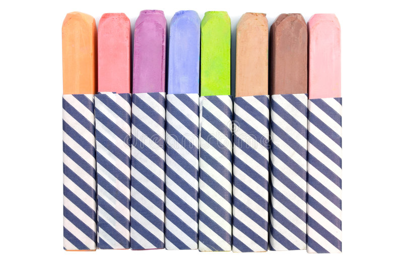 Colorful Chalk. Isolated on a white background royalty free stock photos