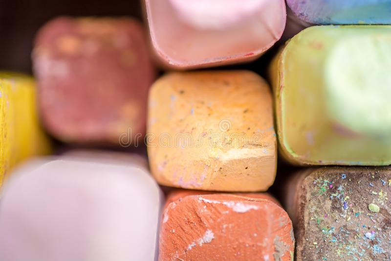 Colorful chalk as a texture stock photos