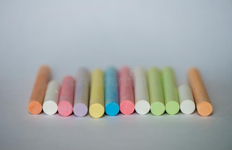 Colorful chalk stock photo
