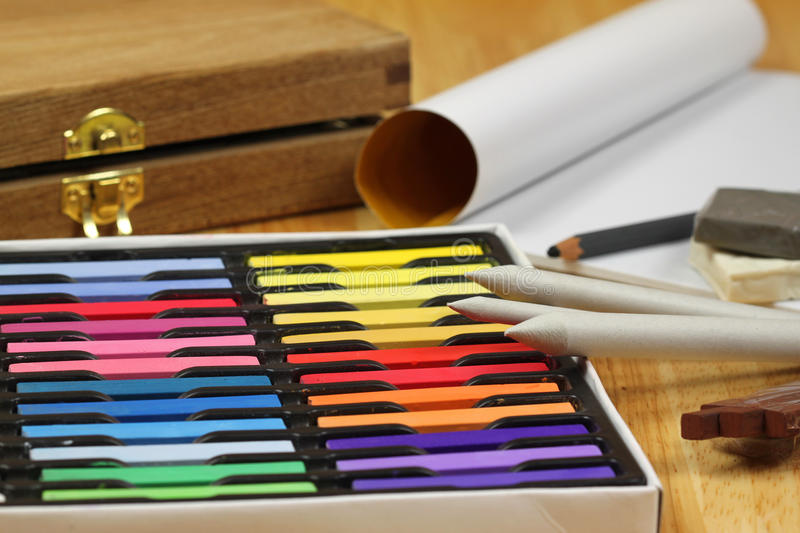 Download Colorful Chalk pastels stock image. Image of cartridge - 12668391