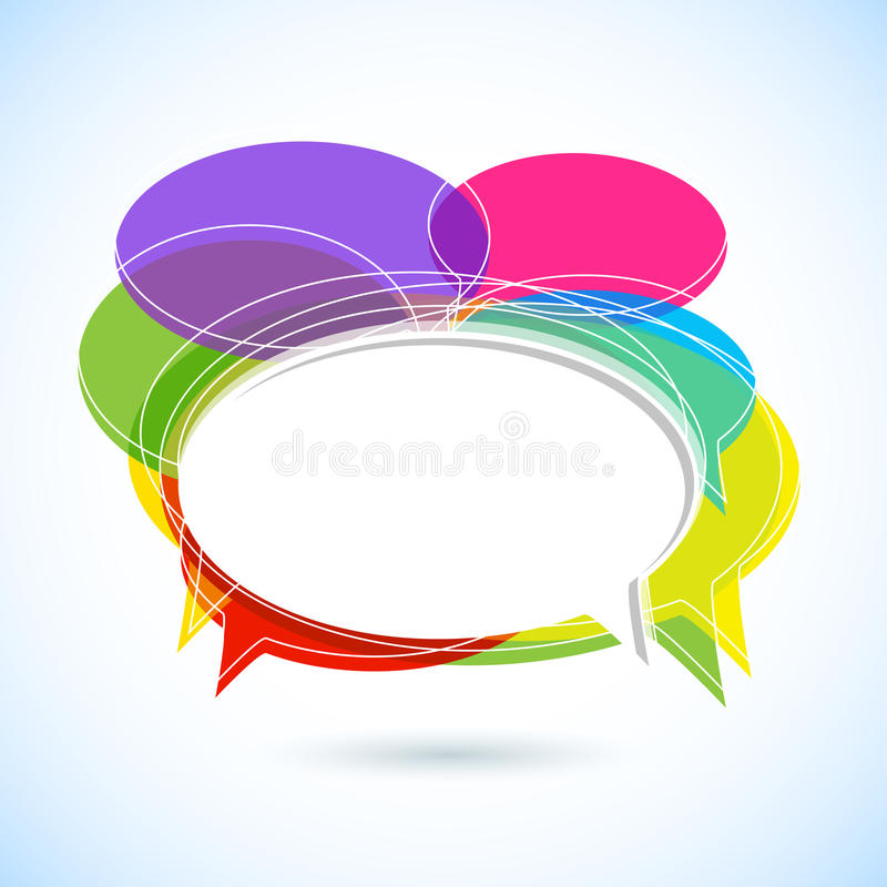 Colorful Chat Bubble vector illustration