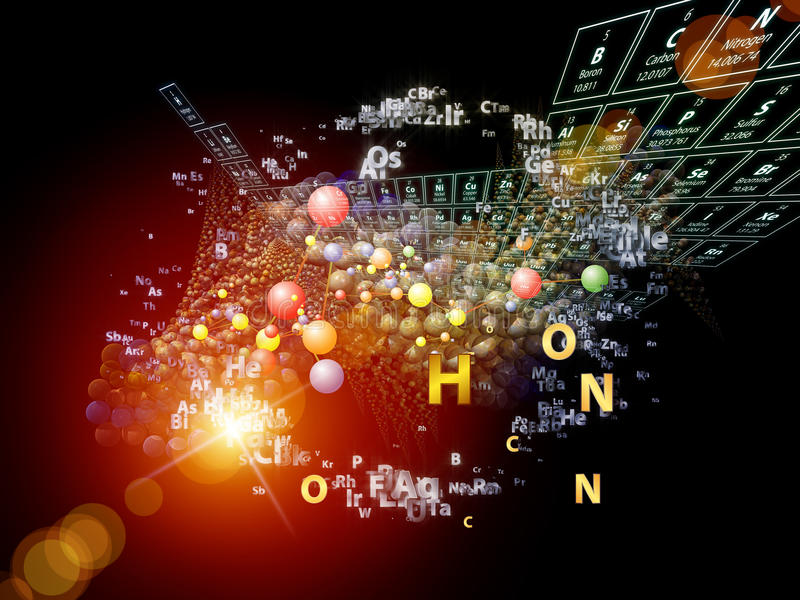 Download Colorful Chemical Elements stock illustration. Image of background - 27749576