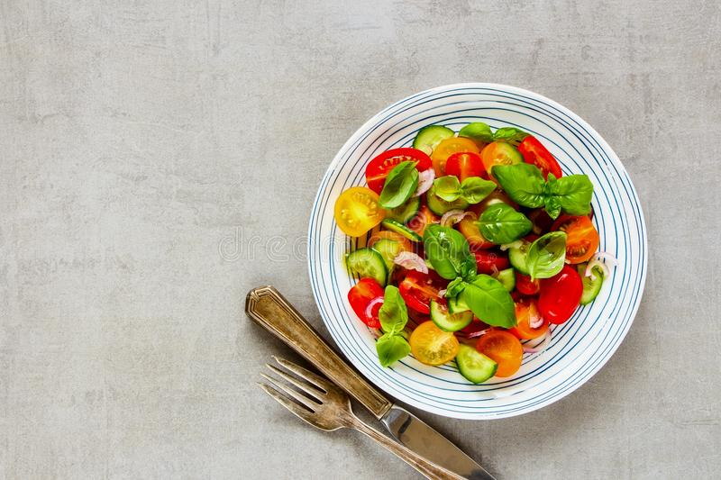 Healthy salad plate stock image