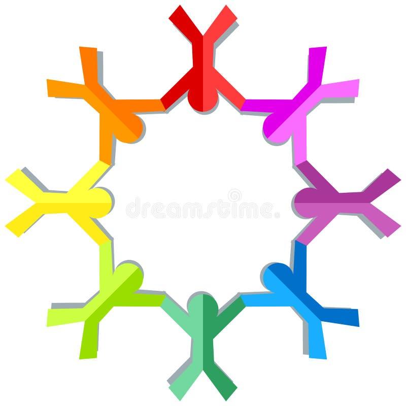Download Colorful Children Holding Hands Frame Stock Illustration - Image: 93481186