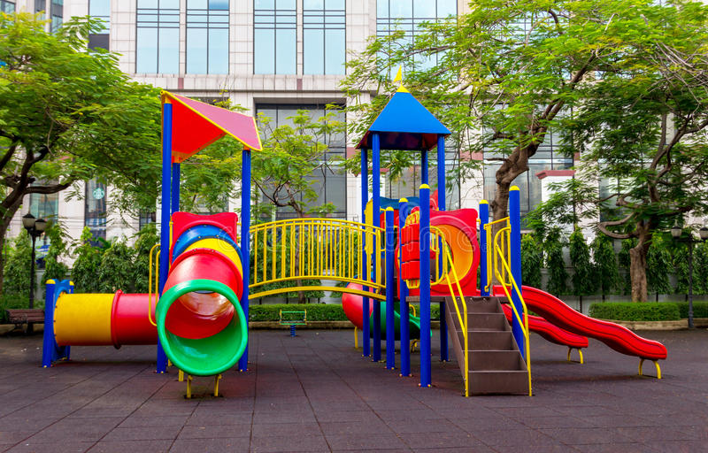 Download Colorful Children Playground Stock Image - Image of leisure, garden: 33503775